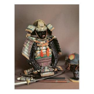 Armadura del samurai, período de Muromachi c.1384 Tarjetas Postales