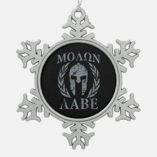 Armadura espartano del Grunge de Molon Labe Adorno De Peltre En Forma De Copo De Nieve
