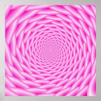 Armadura espiral rosada del poster