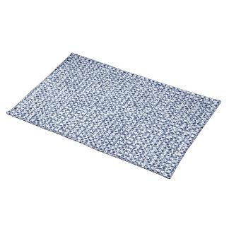 Armadura geométrica de la materia textil azul del manteles individuales