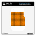 Armadura grande - anaranjado oscuro iPod touch 4G skin