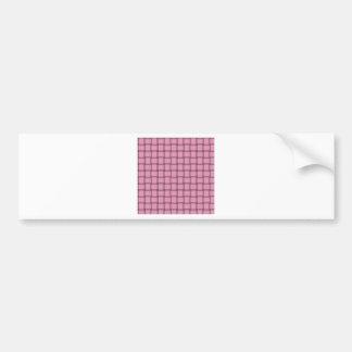 Armadura grande - rosa del clavel etiqueta de parachoque