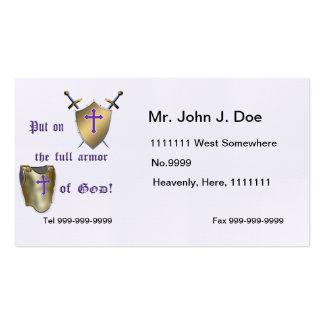 Armadura llena de dios tarjeta personal