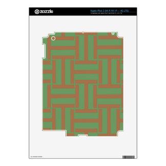 Armadura marrón clara y verde de T iPad 3 Skins