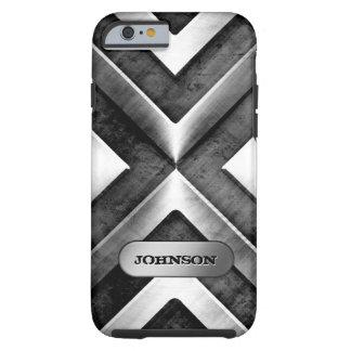 Armadura metálica con la placa de identificación - funda de iPhone 6 tough