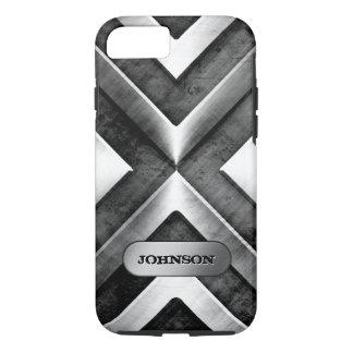 Armadura metálica con la placa de identificación - funda iPhone 7