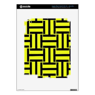 Armadura negra y brillante del amarillo T iPad 3 Skin