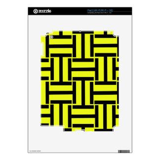 Armadura negra y brillante del amarillo T Skins Para eliPad 2