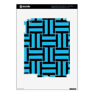 Armadura negra y brillante del azul T iPad 3 Skin
