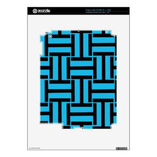 Armadura negra y brillante del azul T Skins Para iPad 2