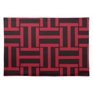 Armadura negra y brillante del rojo T Manteles Individuales