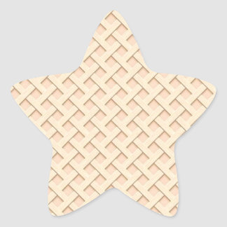 Armadura plana de madera ligera de Basketweave Calcomanías Forma De Estrellaes