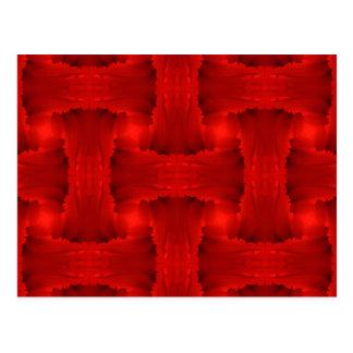 Armadura roja de la cinta del pétalo tarjetas postales