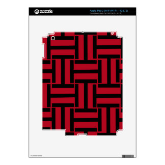 Armadura roja y negra de T Pegatinas Skins Para iPad 3