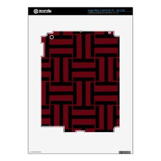 Armadura rojo oscuro y negra de T iPad 3 Skin