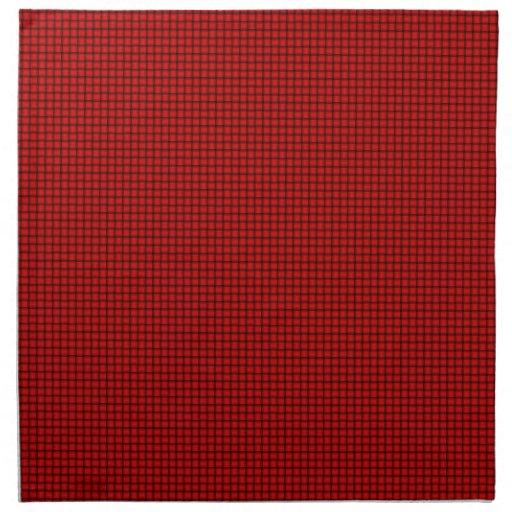 Armadura - rojo servilleta imprimida