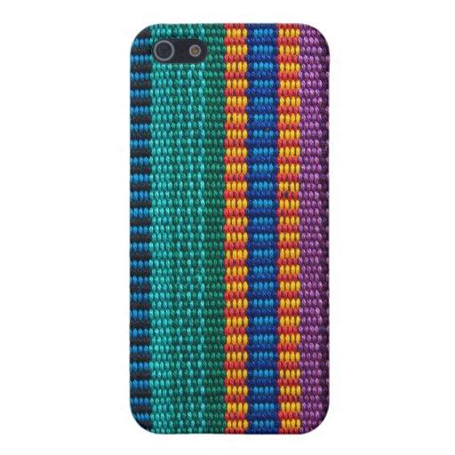 Armadura tradicional de la tela de Guatemala iPhone 5 Coberturas