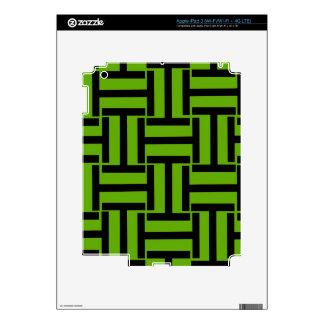 Armadura verde y negra de neón de T iPad 3 Pegatinas Skins