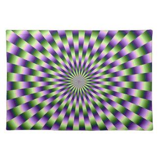 Armadura verde y púrpura Placemats Manteles Individuales