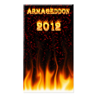 Armageddon 2012 fire and flames business card template