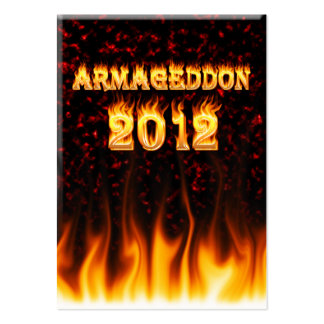 Armageddon 2012 fire and flames business cards