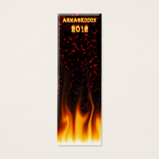 Armageddon 2012 fire and flames. mini business card