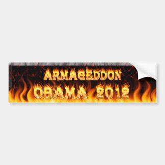 armageddon obama 2012 bumper sticker car bumper sticker