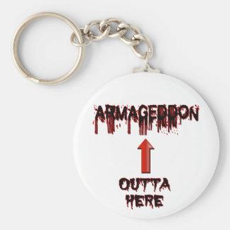Armageddon Outta Here End Times Merchandise Keychain