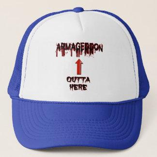 Armageddon Outta Here End Times Merchandise Trucker Hat