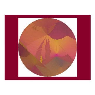 Armageddon Sunset Sky Abstract Art Postcard