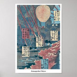 Armaggedon Ukiyoe Poster