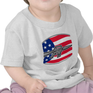 Armalite M-16 Colt AR-15 assault rifle flag Tee Shirts