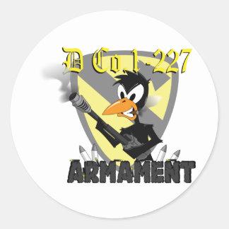 armament classic round sticker
