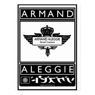 ARMAND ALEGGIE DESIGN POSTCARD