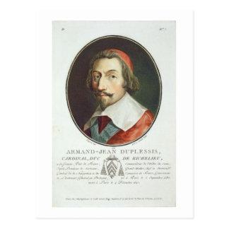 Armand Jean Duplessis, cardenal, Duc de Richelieu Tarjeta Postal