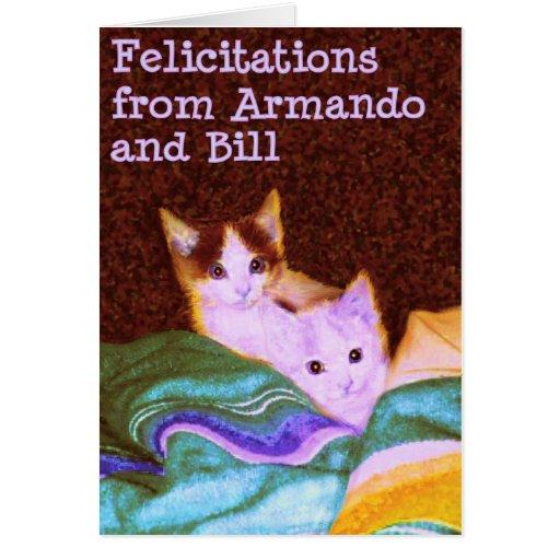 Armando y Bill Tarjeta De Felicitación