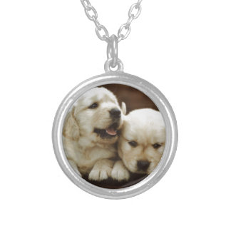 Armant Puppy Dogs Silver Plated Necklace