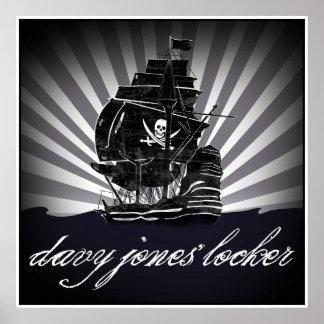 armario davy de Jones Póster