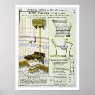 Armario de Tritón de un catálogo de las mercancías Impresiones
