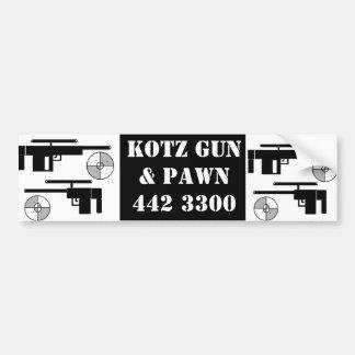 armas, armas, ARMA y PAWN442 3300 de KOTZ Etiqueta De Parachoque