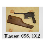 armas clásicos - Mauser C96 Poster
