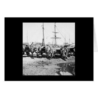 Armas confederados del cerco en Richmond, VA 1865 Tarjeta De Felicitación