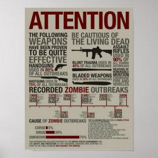 Armas CONTRA los zombis GRANDES Posters
