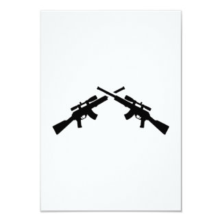"""Armas de Airsoft Invitación 3.5"""" X 5"""""""