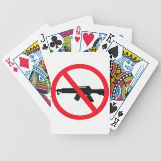Armas de asalto de la prohibición baraja de cartas