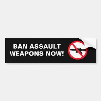 Armas de asalto de la prohibición etiqueta de parachoque