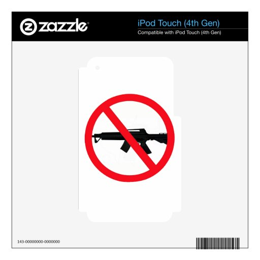 Armas de asalto de la prohibición calcomanías para iPod touch 4G