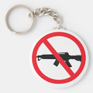 Armas de asalto de la prohibición llavero redondo tipo pin