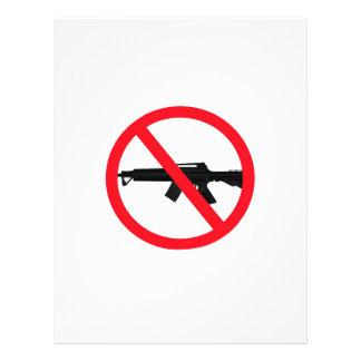 Armas de asalto de la prohibición membrete