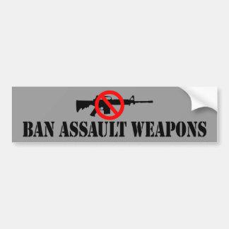 Armas de asalto de la prohibición pegatina para auto